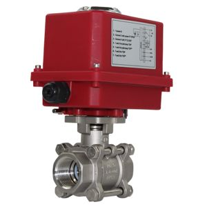 Electric Actuated Motorised Ball Valves Stainless Steel Full Bore 3PCE